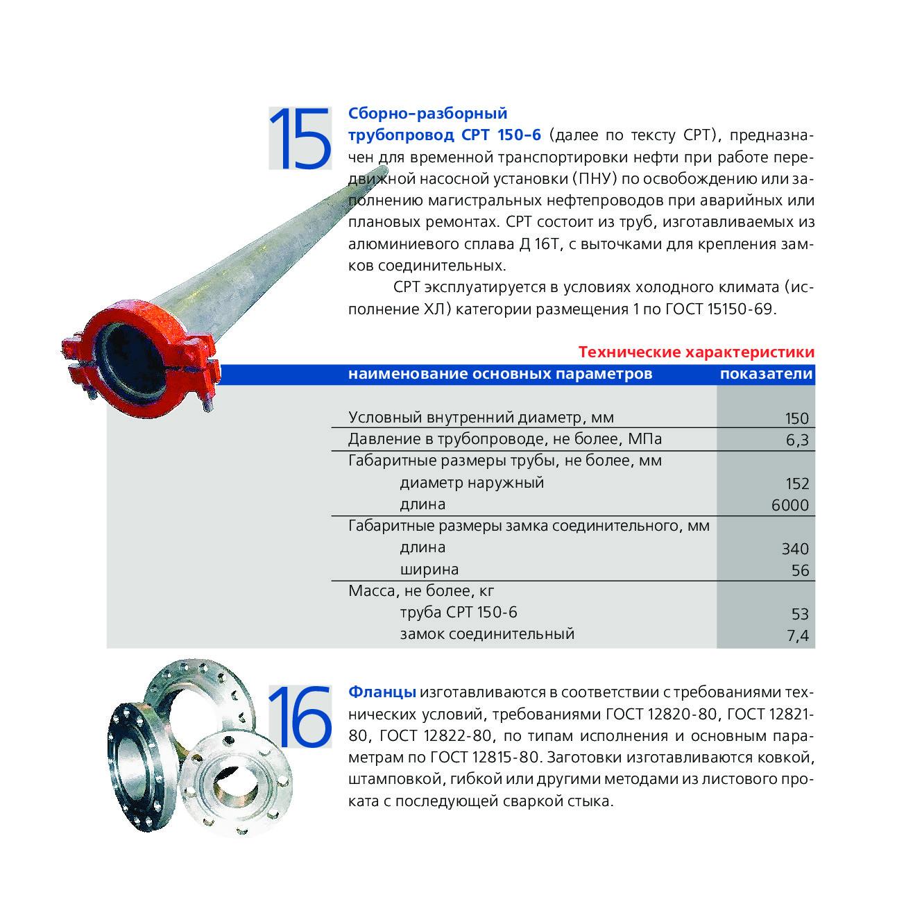 Сборно-разборный трубопровод СРТ 150-6